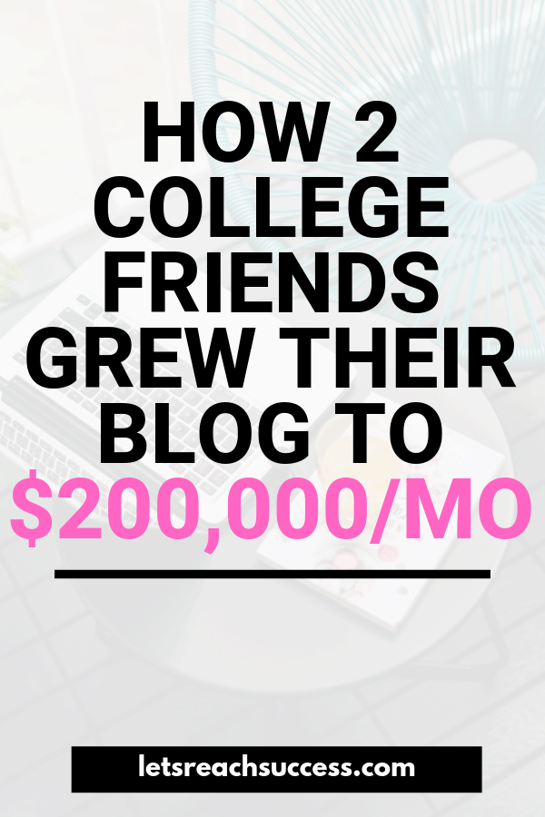 Want to start a business after college? These 2 guys did it. Check out how Ben and Jeff from DollarSprout.com earn $200K/month blogging. #makemoneyblogging #makemoneyonline #sixfigureblog #bloggingtips #sidehustle #startablog #blogincome