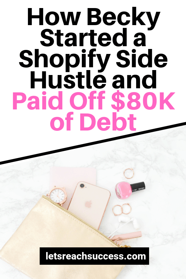 Check out the story of Becky from MomBeach.com who started a Shopify business while being a stay at home mom and paid off her debt: #payoffdebt #makemoneyasastayathomemom #makemoneyonline #momblogger #sidehustleideas #makemoneyfromhome #debtpayoff