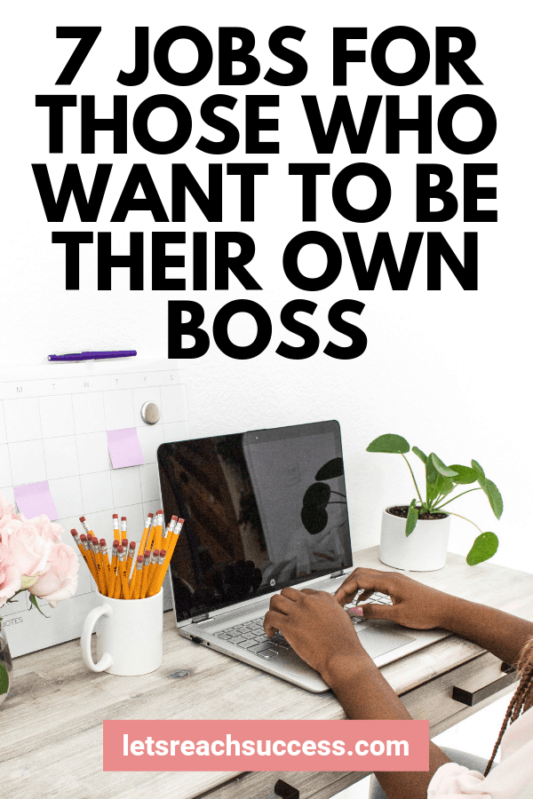 If you're someone who is looking for a job that allows you to become your own boss, here is a quick list to help you start thinking. #businessideas #beyourownboss #workfromhomejobs #careerideas #moneymakingideas #sidehustleideas #makemoney