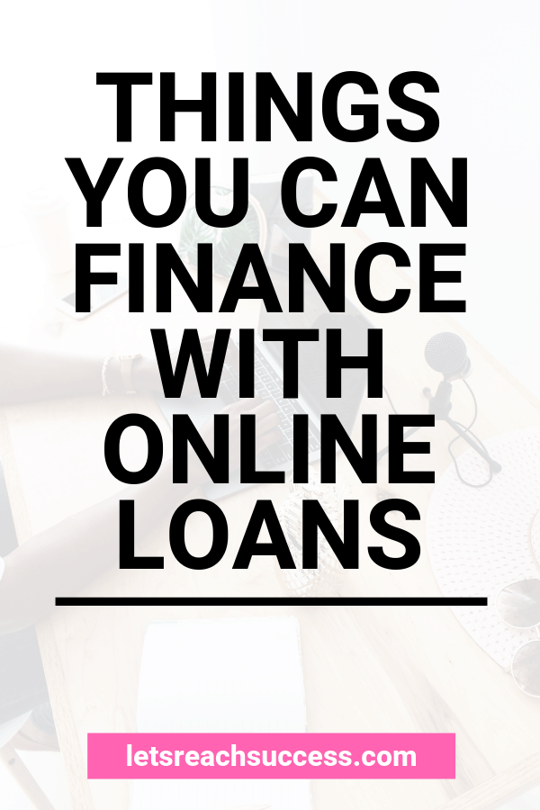 Online loans are made for the everyday person and that is exactly who tends to borrow them. Here are some things you can finance with them: #moneytips #onlineloans #loansforbadcredit #personaloan #debt