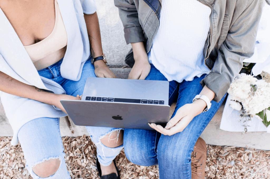 women business laptop