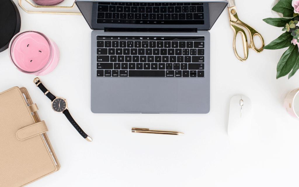 blog income report laptop desk home office money