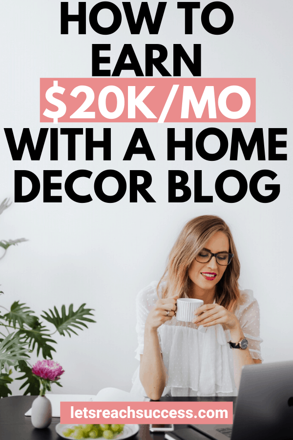 Debbie went from being in debt to growing a home decor blog to over $20,000/month. Learn how she grew and monetized her blog: #homedecorblogs #homedecorbloggers #startahomedecorblog #makemoneyblogging #homedecorbusiness #