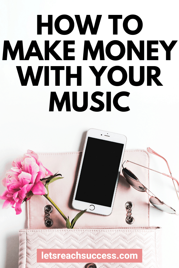 Here are a few ways you can use your music side hustle to become your own boss and earn an income on your own terms. #sidehustleideas #musicsidehustle #makemoney #musicbusiness #earnextramoney