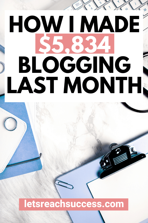 This full-time blogger earned nearly $6K in 1 month from a single blog. Check out how for the exact numbers and income streams: #blogincome #blogincomereports #blogincomereport2019 #makemoneyonline #makemoneyblogging #blogtips #bloggingforbeginners #sidehustleideas