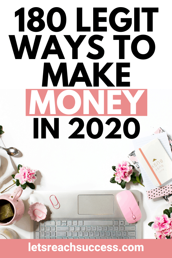 Want to earn an extra income, start an online side hustle, try a passive income idea, or just get some quick cash? Check out this list of ways to make money. #makemoneyfast #makemoneyfromhome #makemoneyonline #waystomakemoney #extraincomeideas #extramoney