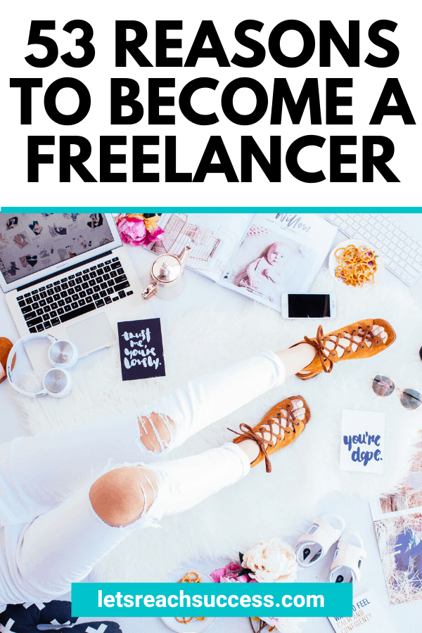 Do you want to work on your own terms, be your own boss and stay at home with your laptop while making money? Then you should become a freelancer. Here's why: #becomeafreelancer #startfreelancing #makemoneyonline #beyourownboss #freelancing #freelancewriting #workfromhome