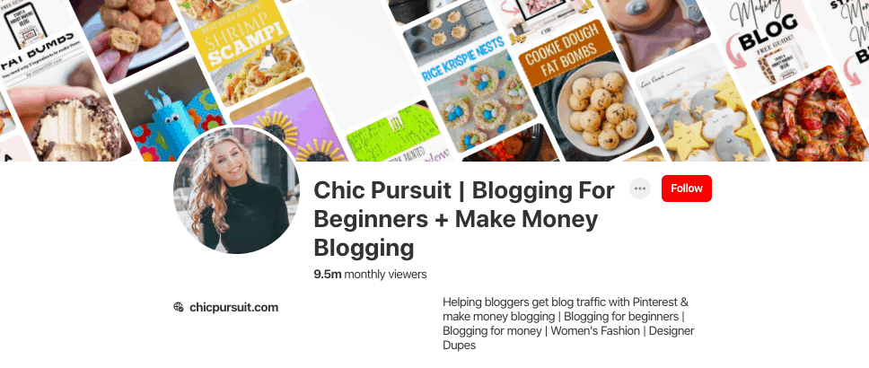 maria chicpursuit blogger pinterest 10 million pageviews