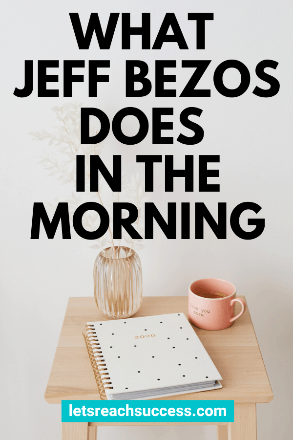 Wonering what Jeff Bezos, Amazon CEO and one of the richest people in the world, does first thing in the morning? Here's when he wakes up and his morning routine: #jeffbezos #jeffbezosmorningroutine #richpeoplelifestyle #ceoofamazon #whatsuccessfulpeopledo #billionairehabits #morningroutine #productivitytips