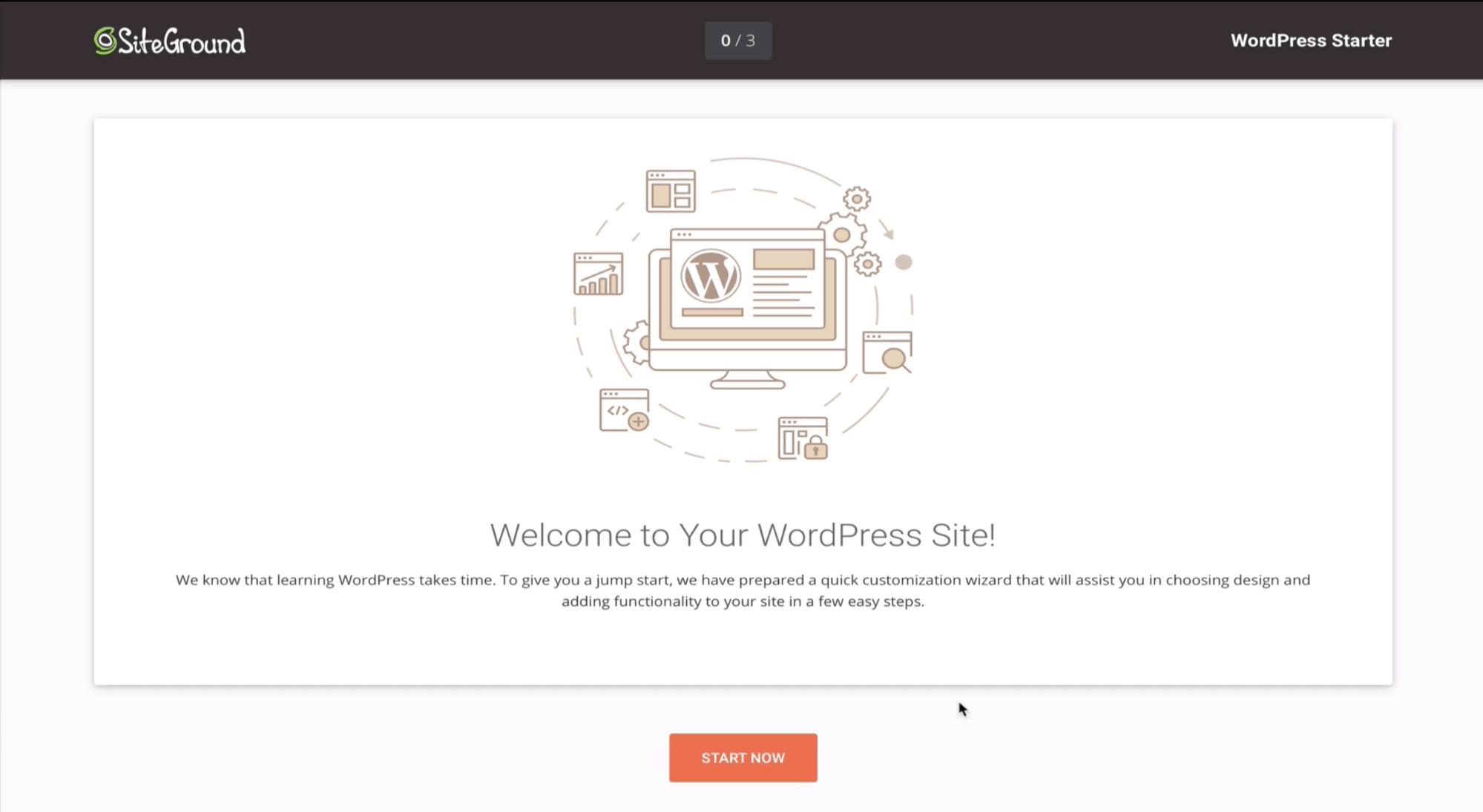 launching a wordpress site on siteground