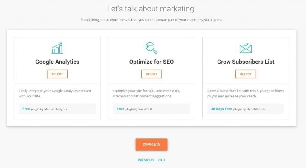 siteground marketing analytics wordpress