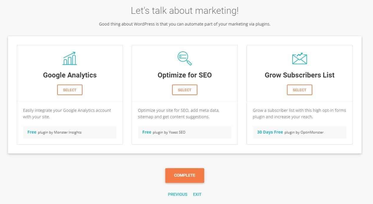 siteground marketing analytics wordpress