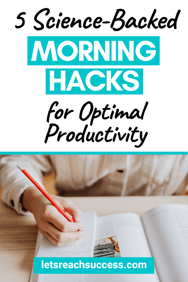 Here are 5 morning hacks, backed by science, that can give us a pep in our step when we wake up and ensure we feel energetic and motivated: #morningroutine #dailyroutine #workingfromhometips #workfromhome #productivitytips #wakeupearly