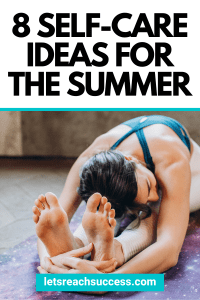 Self-care doesn't have to be giant, sweeping acts of loving yourself. Even the smallest actions can add up this summer. #selfcaretips #selfcareroutine #summerselfcare #summerselfcaretips #summerselfcareideas #healthyroutinesforwomen
