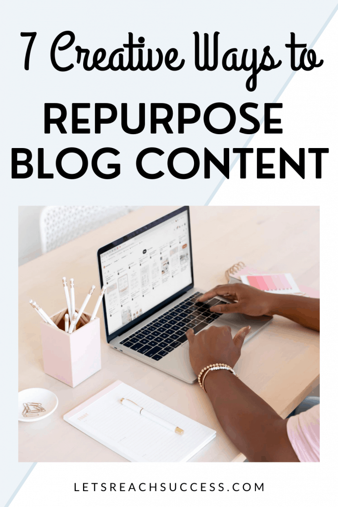 You don't always have to create content from scratch. Often, you can repurpose blog content. Here are some great ways to do it: #howtorepurposeblogcontent #repurposingblogcontent #blogtips #contentmarketing #writingtipsforbloggers #howtopromoteyourcontent #contentcreationideas