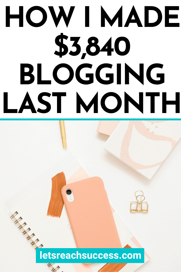 In this blog income report, I share exactly how I earned nearly $4K from my blogging business in just 1 month: #blogincome #blogincomereports2020 #blogincomereports #blogtips #makemoneyonline #sidehustleideas #workfromhome #howmuchdobloggersmake #bloggersalary