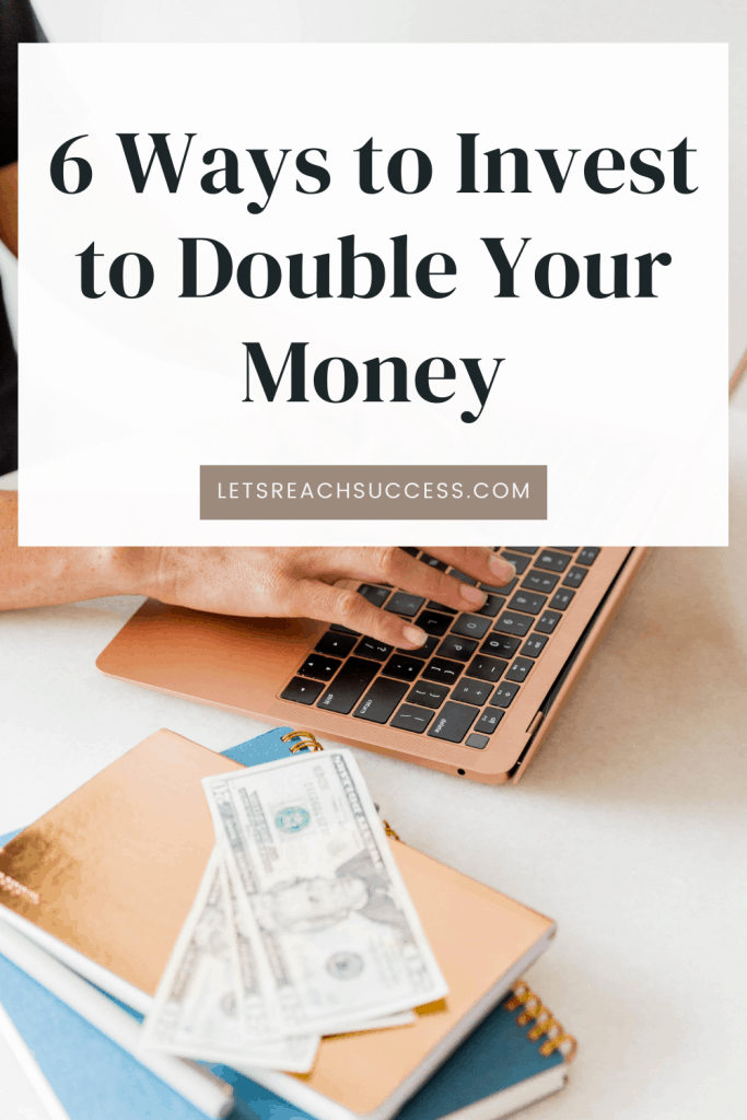 There are six clear ways to invest your cash and each of these options can help you to meet your goals. Not every investment you make will meet your needs, so sorting out the good from the bad, the ones that will work for you and the ones that won't - those are all important. #doubleyourmoney #firsttimeinvesting #wheretoinvestyourmoney #investingideas #passiveincomeideas