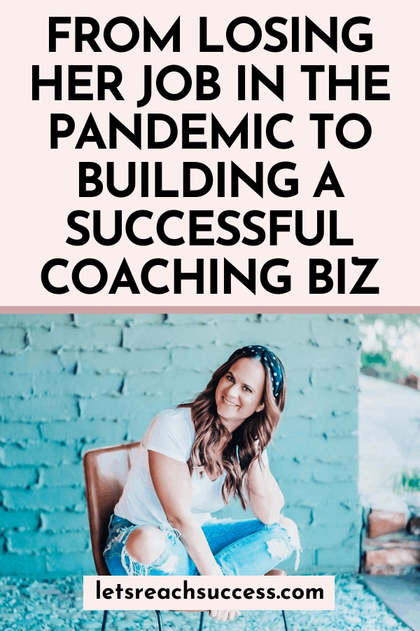 Read the story of Jillian Murphy who went from losing her job in the pandemic to becoming a sales coach and replacing her corporate salary: #salescoach #salescoaching #howtobecomeacoach #femalebusinesscoach #losingyourjob #coachingbusiness #6figurecoach #6figurecoachingbusiness #femaleentrepreneur