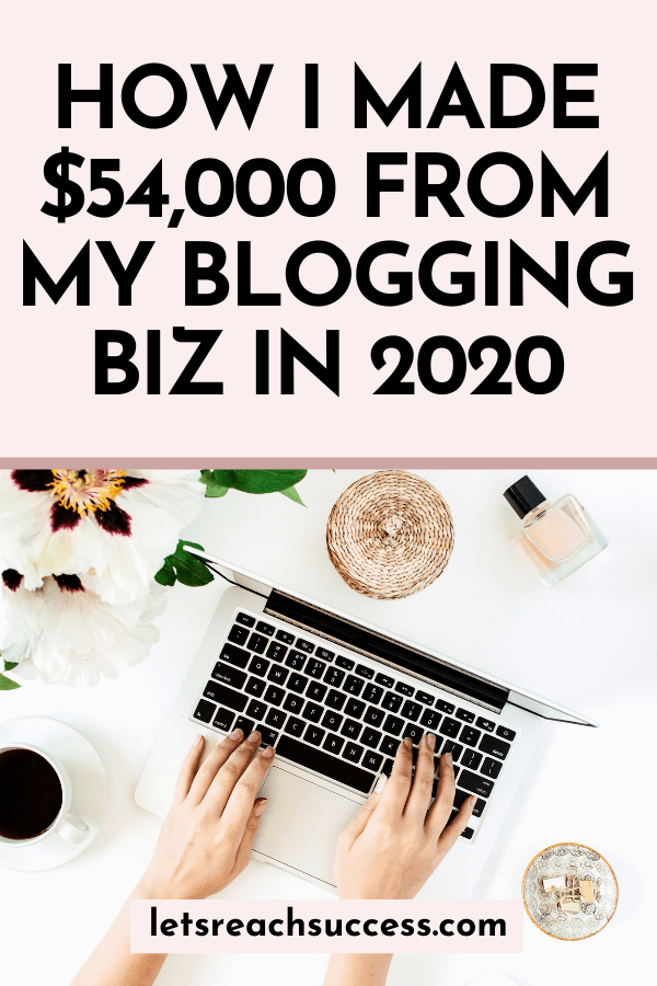 In this annual income report, you'll see exactly how I earned $54,000 from my blogging business and what I worked on. #blogincomereport2020 #incomereport2020 #blogincomereports #incomereportblogger #incomereport #makemoneyblogging #fulltimeblogging #howbloggersmakemoney #howblogsmakemoney