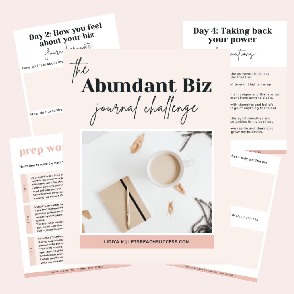 abundant biz challenge graphic