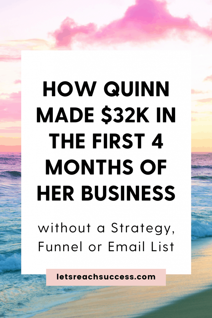 In this interview, Quinn Downie shares how she built an intuition-led coaching business and made $32K in the first 4 months without a funnel: #intuitionbusiness #coachingbusiness #sixfigurechick #sixfigurebusiness #sixfigureincome #intuitioncoach #intuitioncoaching #lifecoach #businesscoach