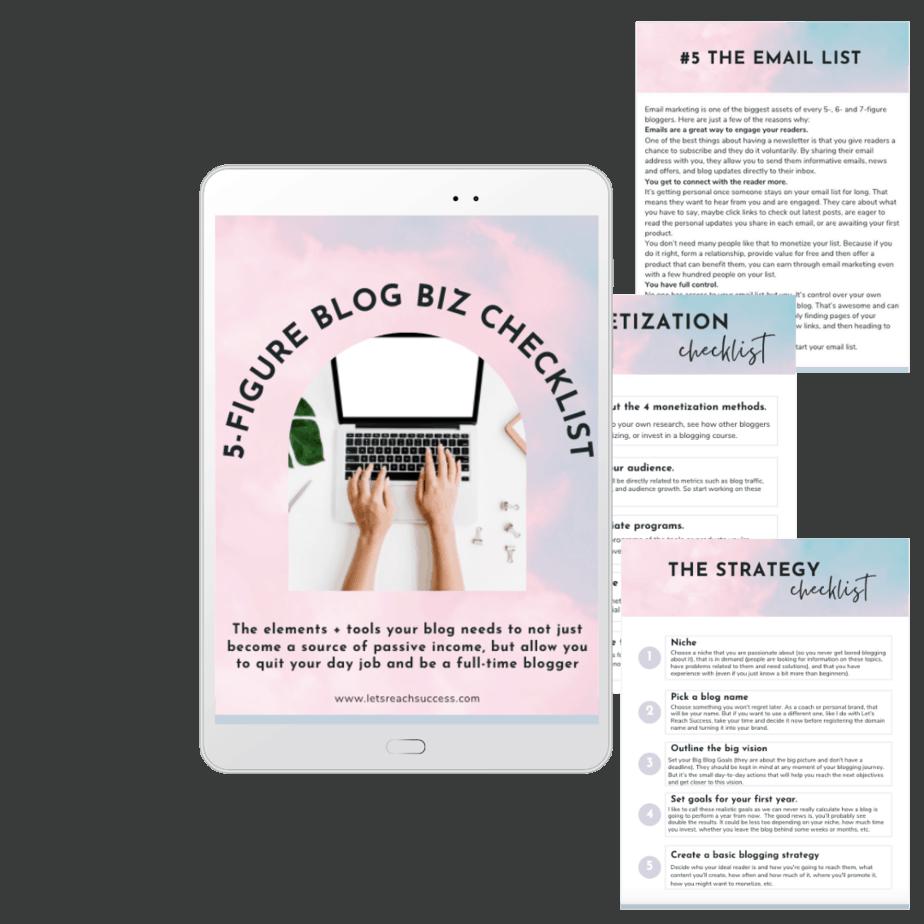 Free 5-Figure Blog Biz Checklist