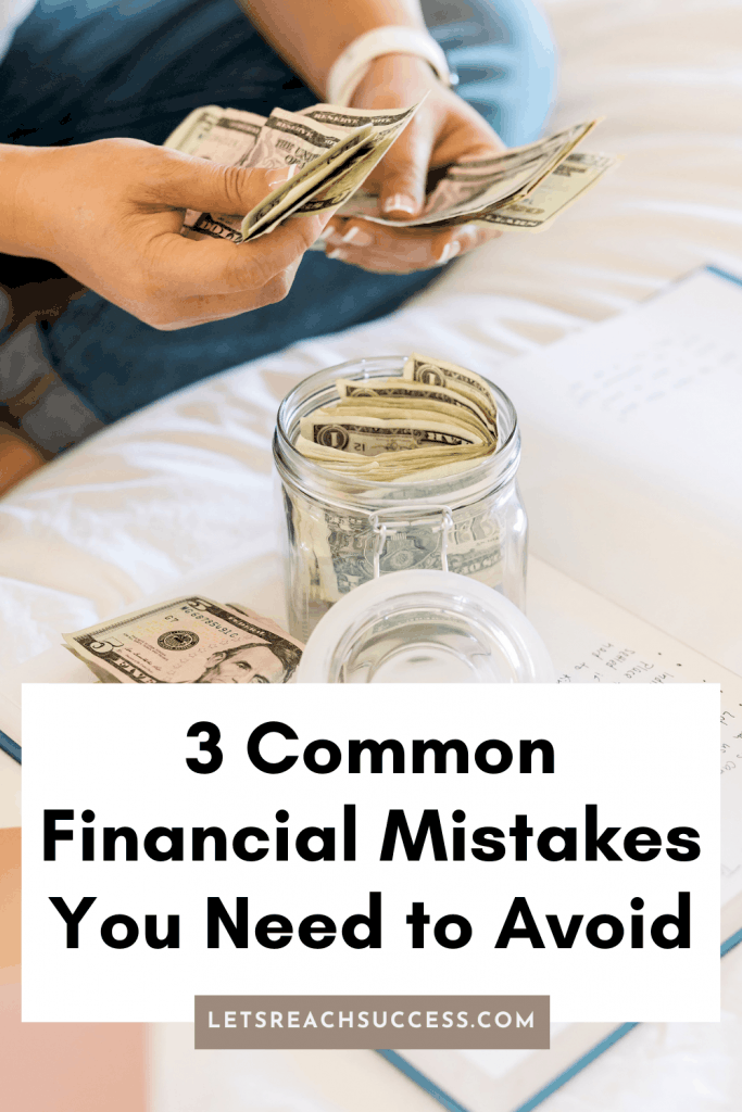If you are just starting to get your feet wet in the world of finance, you need to be aware. Here are some financial mistakes to avoid: #moneymistakes #moneymistakestoavoid #moneytips #howtosavemoneyfast #moneysavingtips
